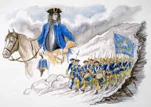 General Carl Gustav Armfeldts herjinger – markeringer i Holtålen