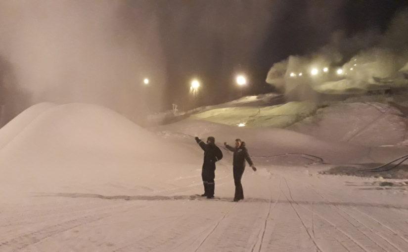 Full snøproduksjon i Ålen skisenter