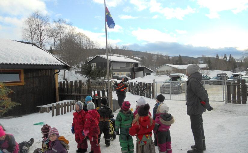 Elvland barnehage feirer Samefolkets dag og Minimartna