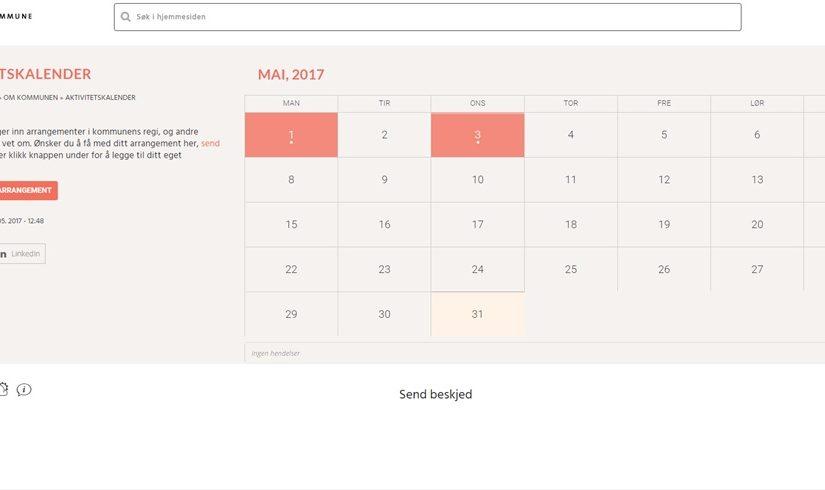 Ny aktivitetskalender testes ut