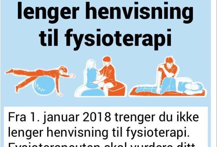 Fom 1. januar trenger du ikke lengre henvisning fra lege for å gå til fysioterapeut