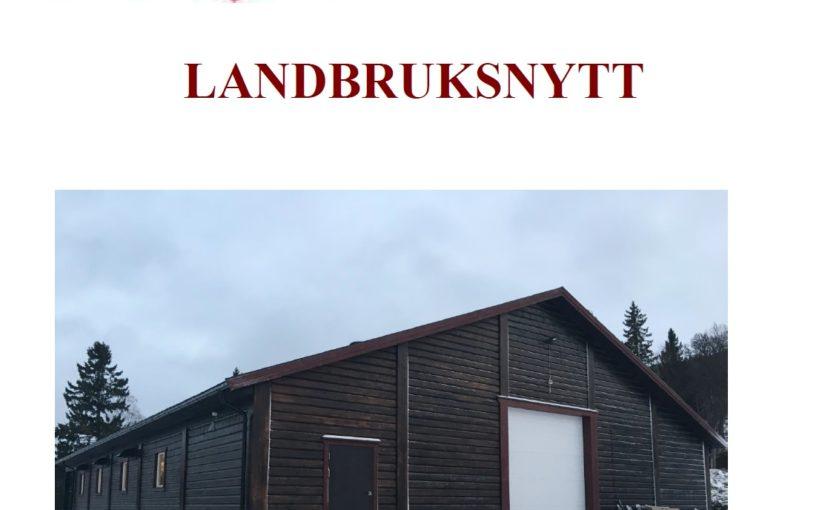 LANDBRUKSNYTT DESEMBER 2018