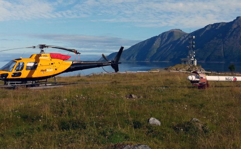 Målinger fra helikopter i lav høyde