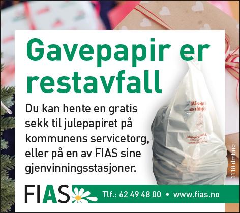 Utdeling av julesekk til gavepapir fra kommunenes servicetorg