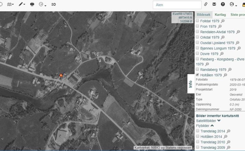 Flybilder over Holtålen fra 1979 og 1993