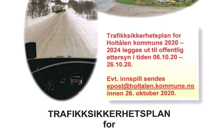 Trafikksikkerhetsplan 2020-24 for Holtålen kommune. Utlegging til offentlig ettersyn